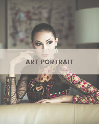 artistic female portrait